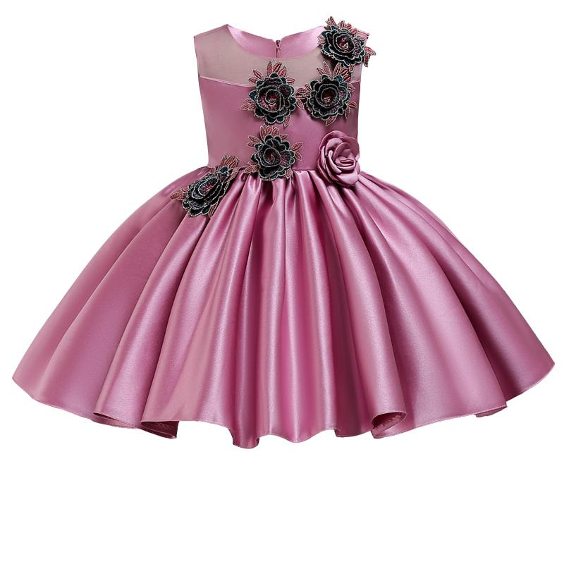 9a234b8c1abe0 2019 Tutu Dress Girl Floral Princess Baby Toddler Dress Kids Dresses For  Girls Clothes Children Party Wedding Dress 2 3 10 Years