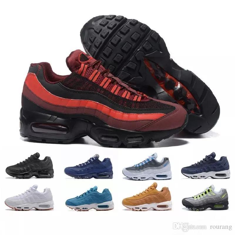 huge selection of eb426 7ef15 Acheter Nike Air Max Airmax 95 2018 Nouvelle Arrivée Hommes 95 Chaussures  Décontractées Noir Blanc Athentic 95 Chaussures De Sport Hommes Femmes Top  Qualité ...