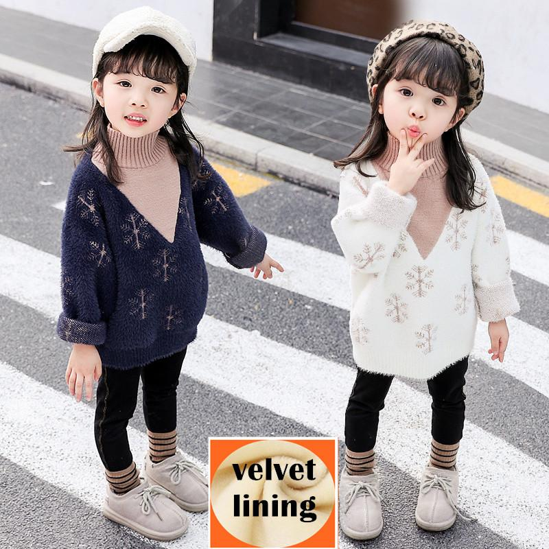 2018 Hot Sale Girls Casual Christmas Sweater Kids Winter Clothing