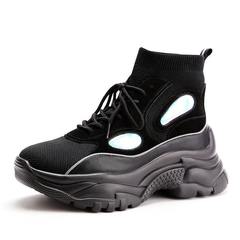 130999db Compre Nuevas Zapatillas De Deporte Con Plataforma Superior Para Mujer  Botines Con Purpurina Calcetines Mujer Unisex Papá Zapatillas Gruesas  Zapatos De ...