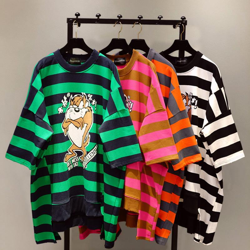 92005388c43 O Neck Loose Female Pullovers Tops Spring Summer New Cartoon ...