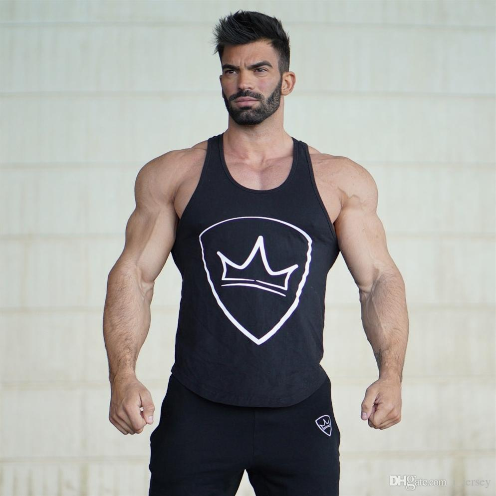 547ba5f4c2799 2019 HETUAF Mens Bodybuilding Tank Top Gyms Fitness Sleeveless Shirt 2019  New Male Cotton Clothing Fashion Singlet Vest Undershirt  105423 From  I jersey