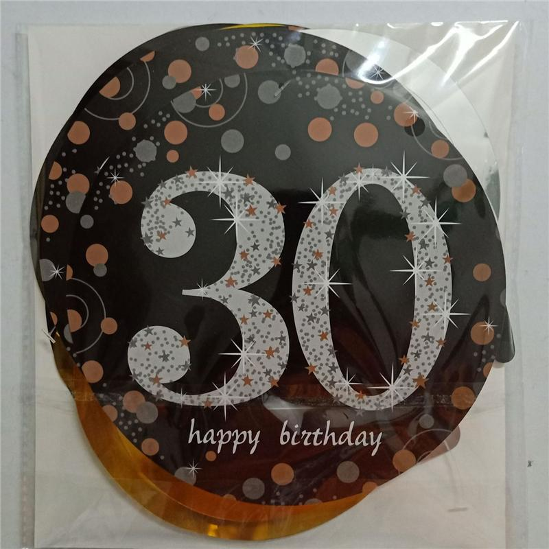 30 40 50 60 Happy Birthday Party Decorations Adult Customized Birthday Party Supplies Gold Silver Black Anniversary Decor,Q