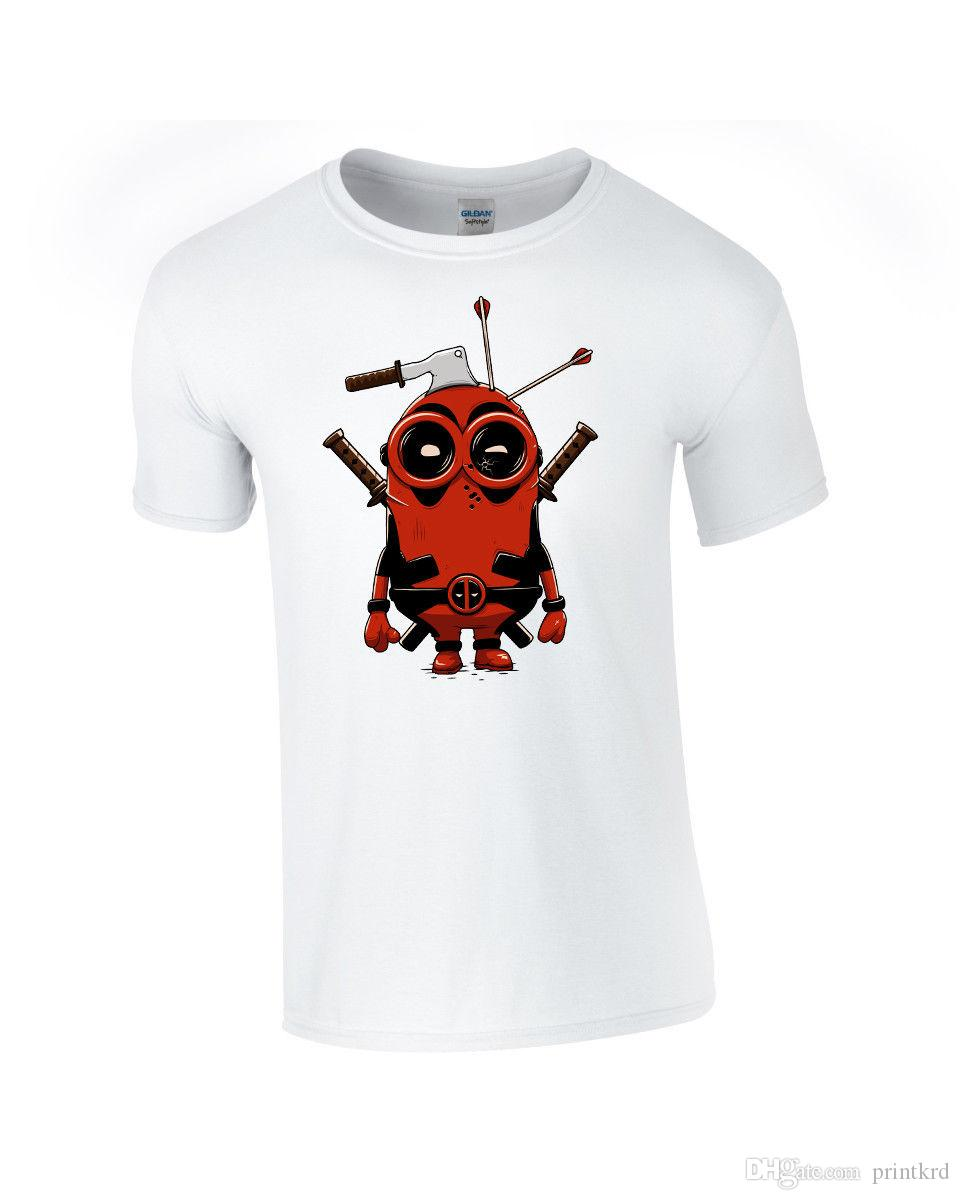 60a40897289 Deadpool Minion Kids White T Shirt Online T Shirts Funky T Shirts From  Printkrd