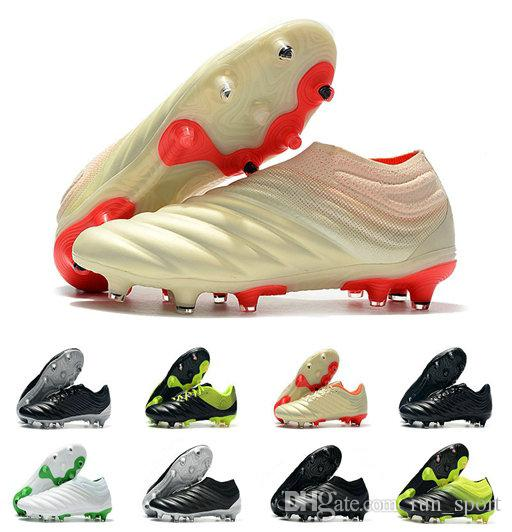 aea021896d94 2019 With Bag Box Mens Copa 19+ FG Soccer Shoes For Men S Cleats Football  Boots Male Slip On Chaussures Men Outdoor Shoe Boys Teenage From Run sport