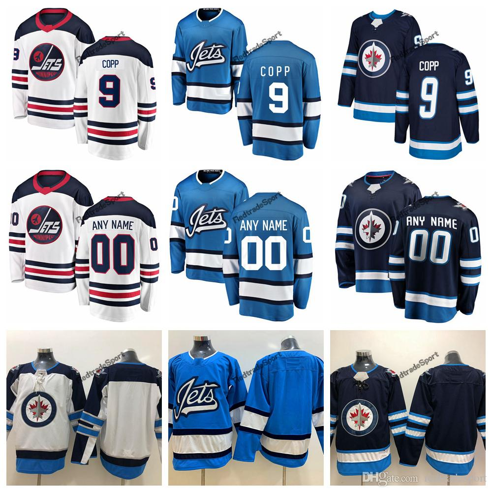 best website c359a 0d993 2019 Heritage White Winnipeg Jets Andrew Copp Hockey Jerseys Alternate Baby  Blue #9 Andrew Copp Stitched Jerseys Customize Name