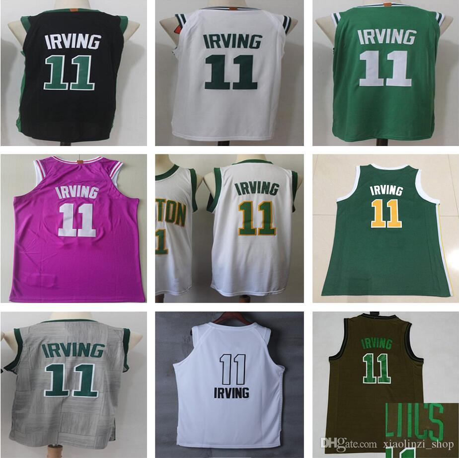 buy popular 5312a 0c4d3 Playoff Award Edition Stitched 11 Kyrie Irving Jerseys New City Edition  White Black Green Rose red Irving Jersey Men Youth Kids