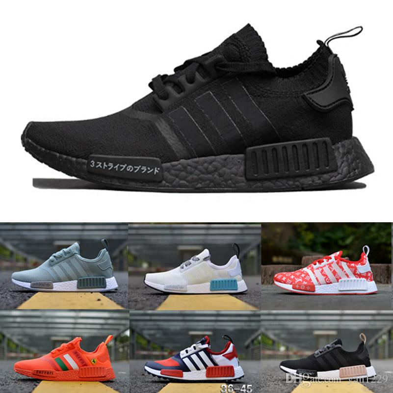 bf7b512b14 2019 NMD R1 Running Shoes Men Undefeated Primeknit PK brown black yellow  Sneakers Man orange red NMD Runner R1 Sports Shoes Mens