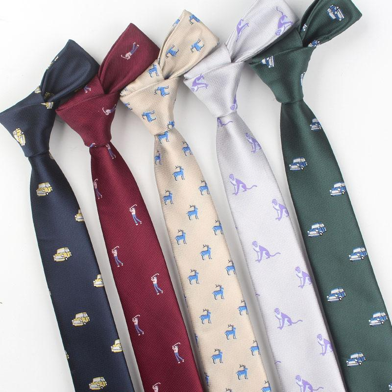 a42200d64164 Fashion Casual Version Of The Narrow Tie 6cm Soil Cool Hip Hop Cartoon  Pattern Jacquard Show Men And Women Tie Clothing Teal Tie Donald Trump Ties  From ...