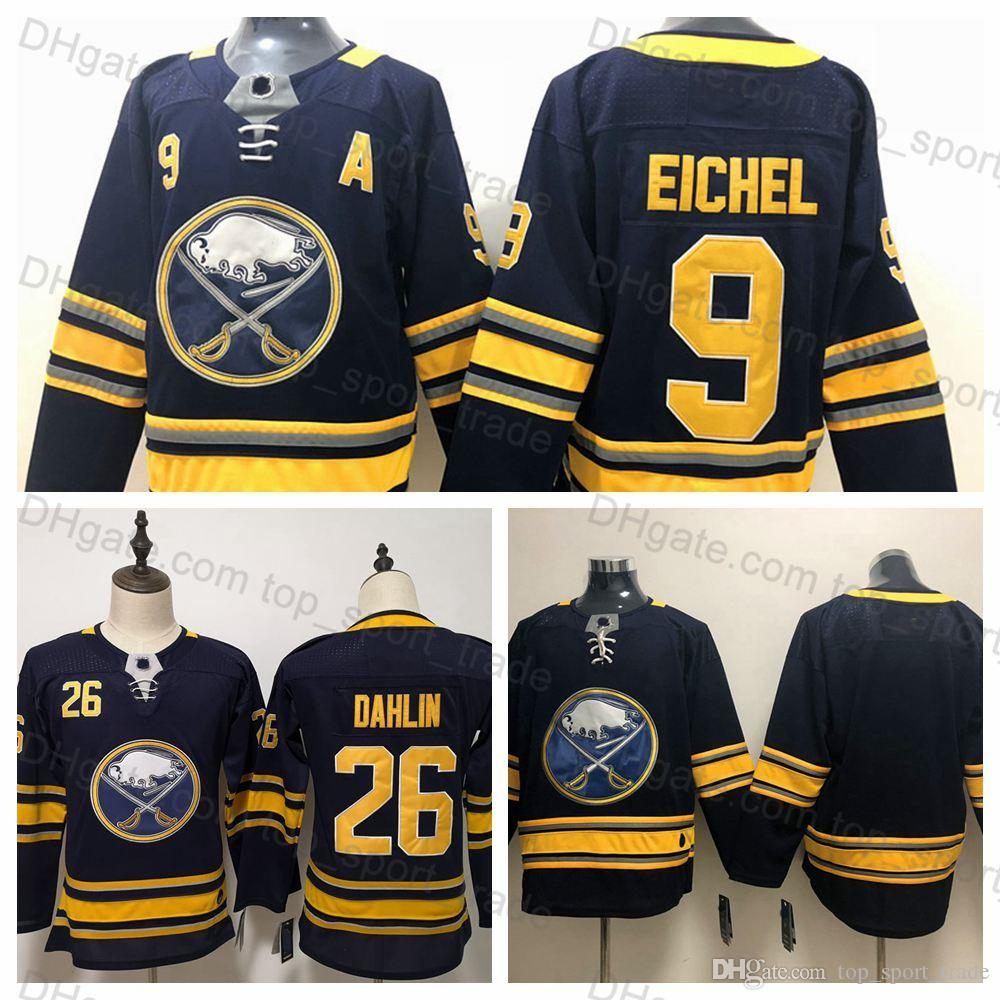18fc6ff5f 2019 Youth Women Buffalo Sabres Jerseys Kids 9 Jack Eichel Jersey Lady 26  Rasmus Dahlin Jersey Stitched Blue Boys Ladies Ice Hockey Jerseys From ...