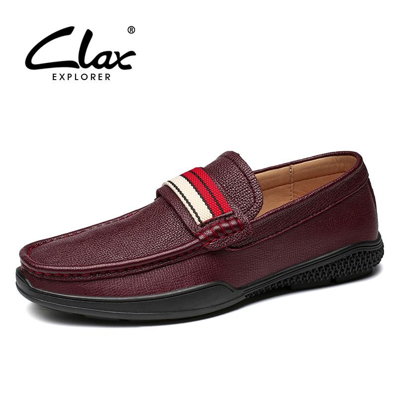 CLAX Mens Boat Shoes Genuine Leather 2019 Spring Summer Male Casual ... 34ea2cccbf55