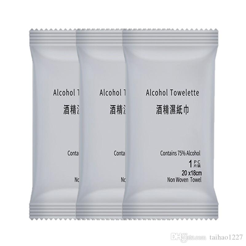 2020 75% Disposable Alcohol Wipes 200mm*180mm Single Piece