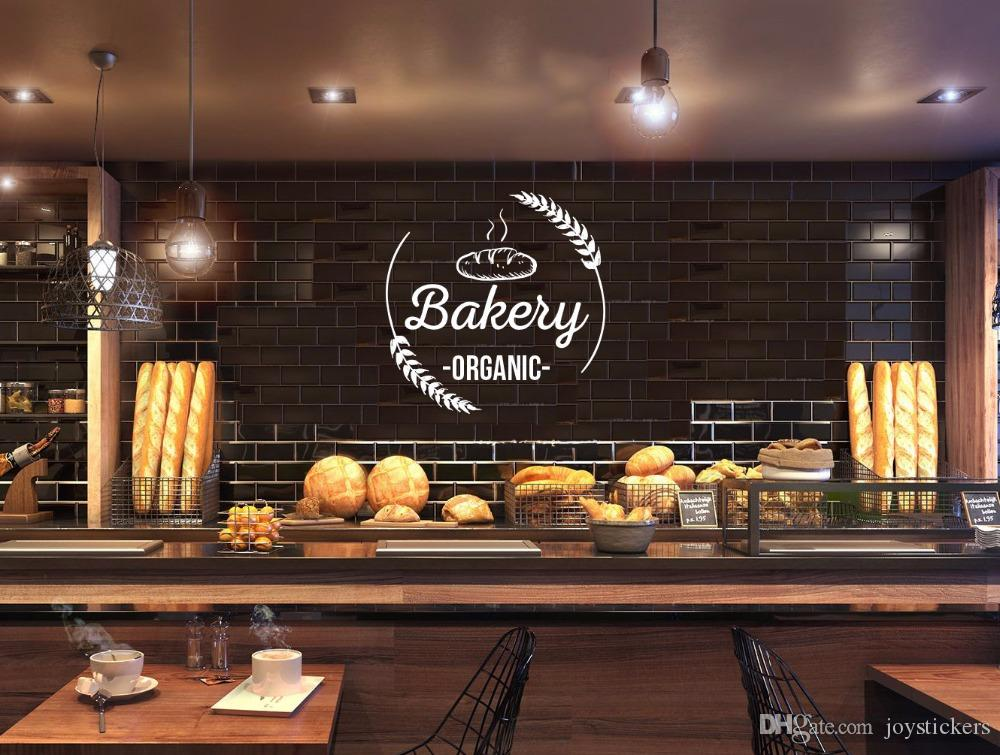 . Bakery Shop Logo Wall Sticker Bakeshop Wall Decal Kitchen Cafe Home Room  Interior Decoration Vinyl Bakery Wall Art Mural
