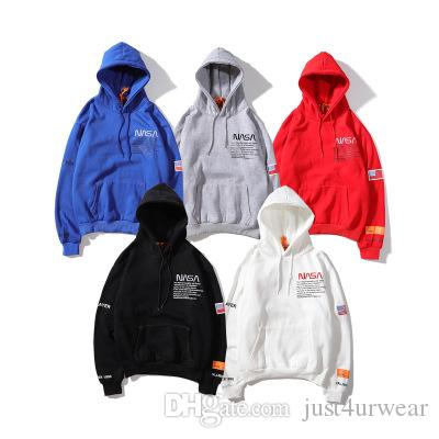 Mens Brand Hot Sell Hoodies Loosse Letter Print 5 Colors Sweatshirts Hip Hop Street Male Hoodies