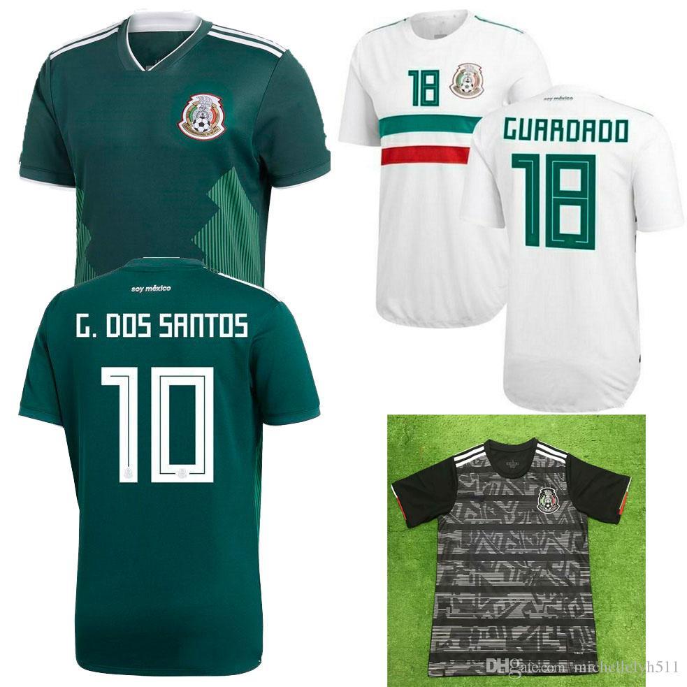 Camiseta 2019 De La Copa De México De México 18 19 Camiseta De Fútbol De  Casa De México De Color Verde Lejos De Casa HERNANDEZ G.DOS SANTOS M.LAYUN  CARLOS ... 4b218d0324ba3