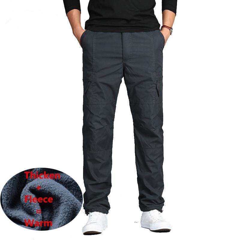 d143e4be4a8 2019 Men Winter Fleece Double Layer Cargo Pants Warm Baggy Pants Cotton  Fleece Trousers Male Military Camouflage Tactical Pants 3XL From Bidalina