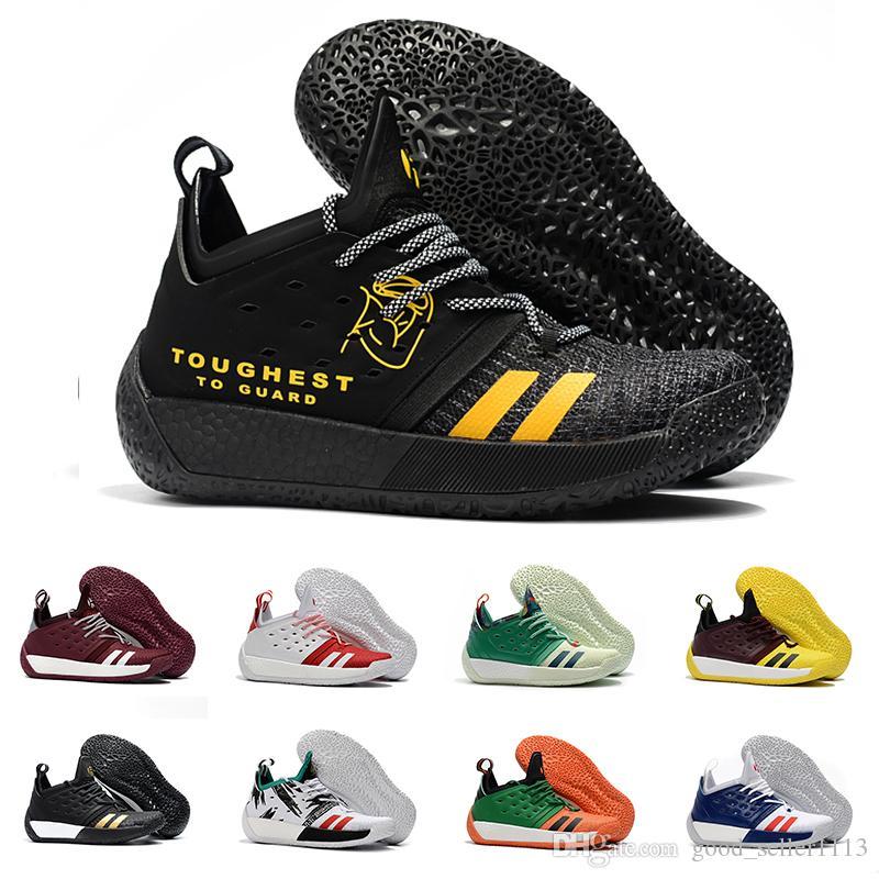 newest 8aaf9 753e3 Compre AAA + Calidad James Harden Vol.2 Zapatos De Baloncesto Para Hombre  Moda Negro Blanco Rojo Verde Naranja Azul Gris Marrón Vino Zapatillas  Deportivas A ...