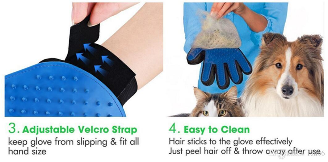 Pet Hair Removal Glove Pet Dog Cat Grooming Cleaning Glove Deshedding Pet Hair Removal Glove Promote Blood Circulation High Quality
