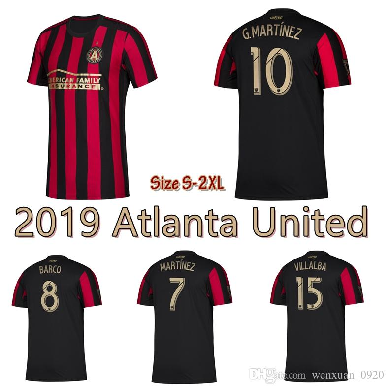 competitive price 12aac a85ad 2019 Atlanta United soccer jersey 19 20 Atlanta United FC home Barco  G.Martinez Villalba football shirts