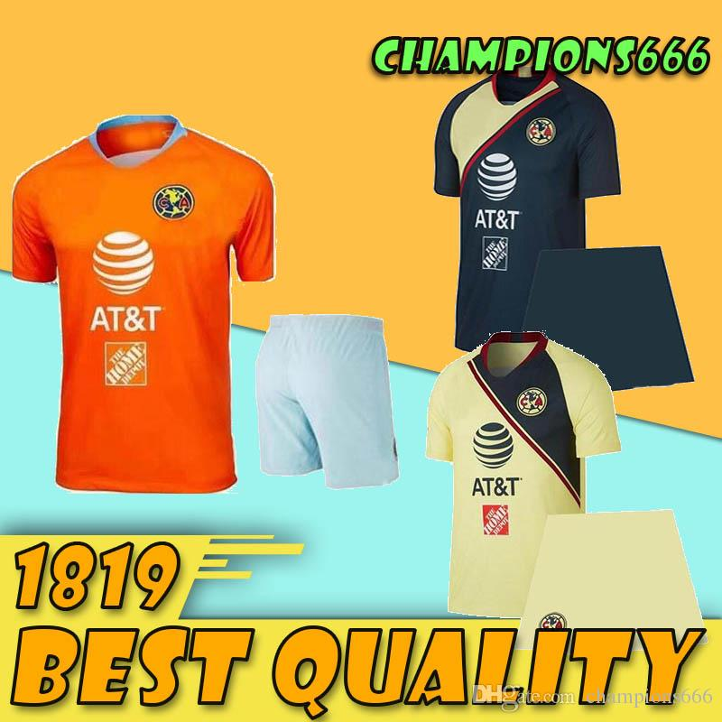 2019 ADULT KIT MEXICO Club America Soccer Jersey Home away 19 20 LIGA MX  Mateus R  Martínez D LAINEZ O  Peralta third sets football shirts
