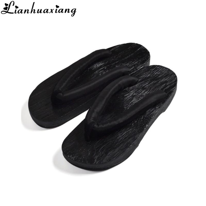 73fa0eb66348 Summer Fashion Male Platform Shoes Print Wood Men Geta Sandals Men China  Geta Clogs Classial Wooden Slippers Mens Flip Flops Leather Boots Cheap  Boots From ...