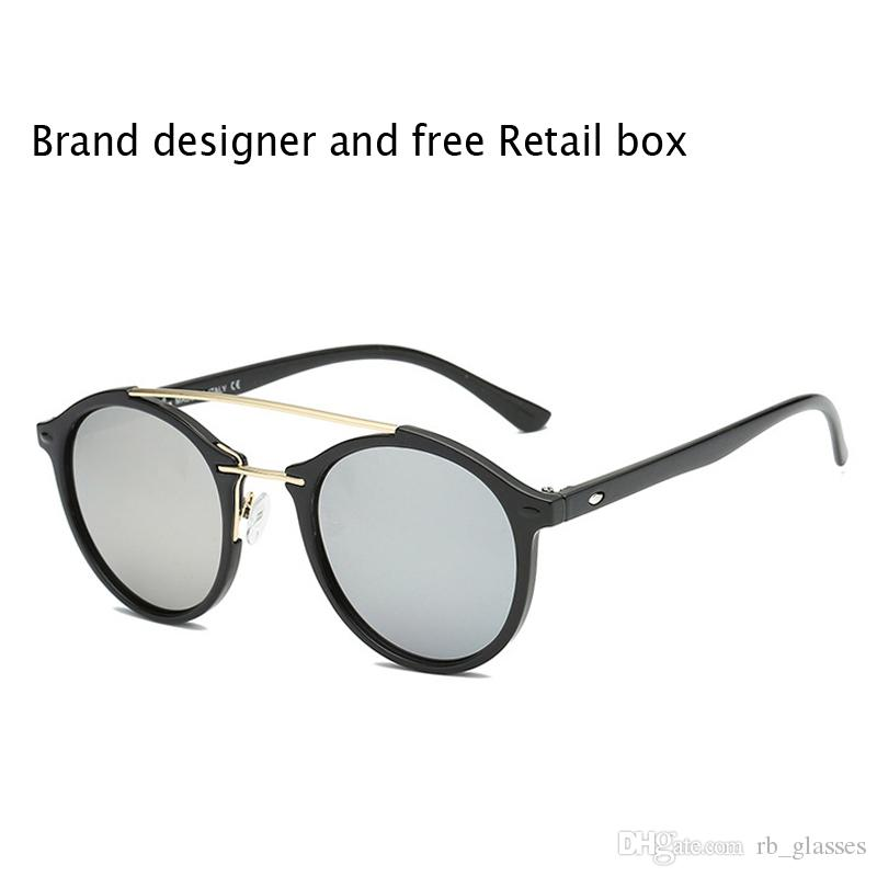 High Quality Brand Designer Round Sunglasses for Men Women Sports Sun Glass uv400 lens Gafas de sol with Retail Full Accessories