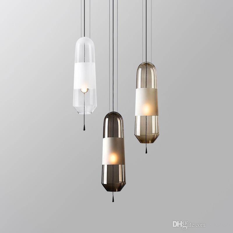 Nordic creativo camera da letto comodino in vetro lampada a sospensione art  design soggiorno camera lampada a sospensione