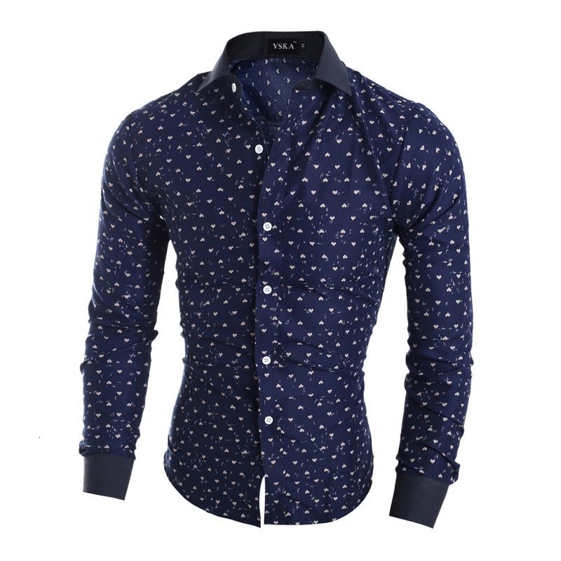 Western stylish printing men's casual shirts American style fashion boys slim fit full sleeve clothes free shipping