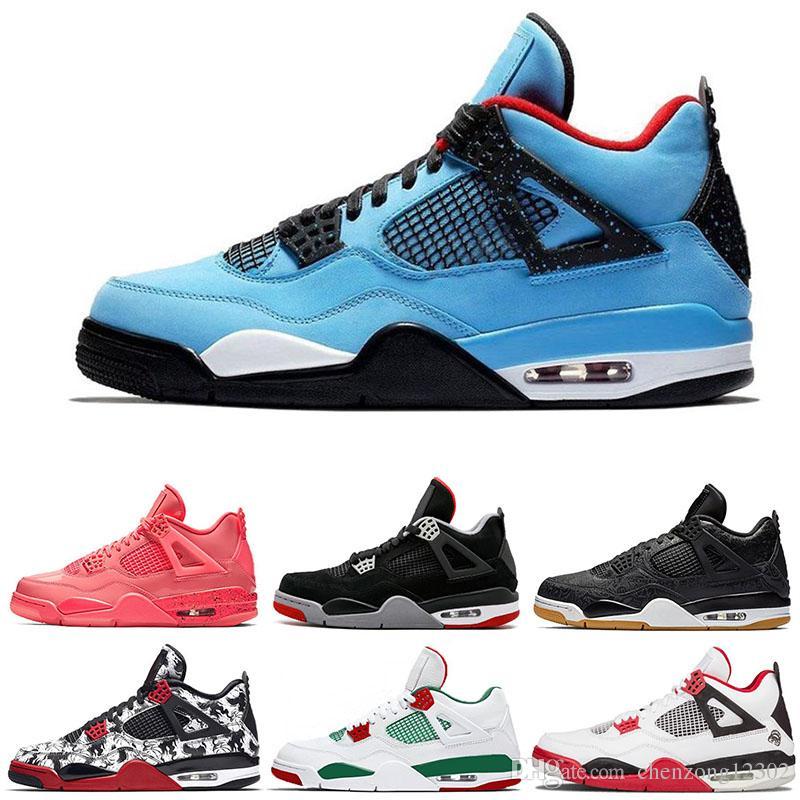 32a0b1add72c55 4s Hot Punch Mens Basketball Shoes 4 Raptors Tattoo Travis Cactus ...