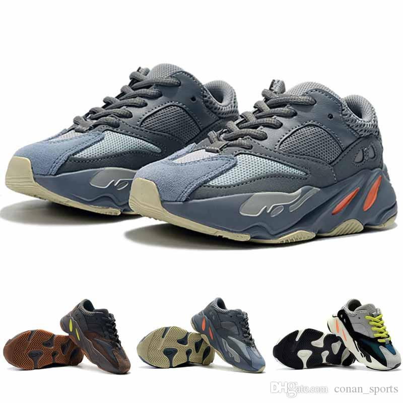 competitive price 86206 f1612 High Quality Kids Shoes Wave Runner 700 Running Shoes Baby Trainer Sneaker  Kanye West 700 Sport Shoe Children Athletic Shoes
