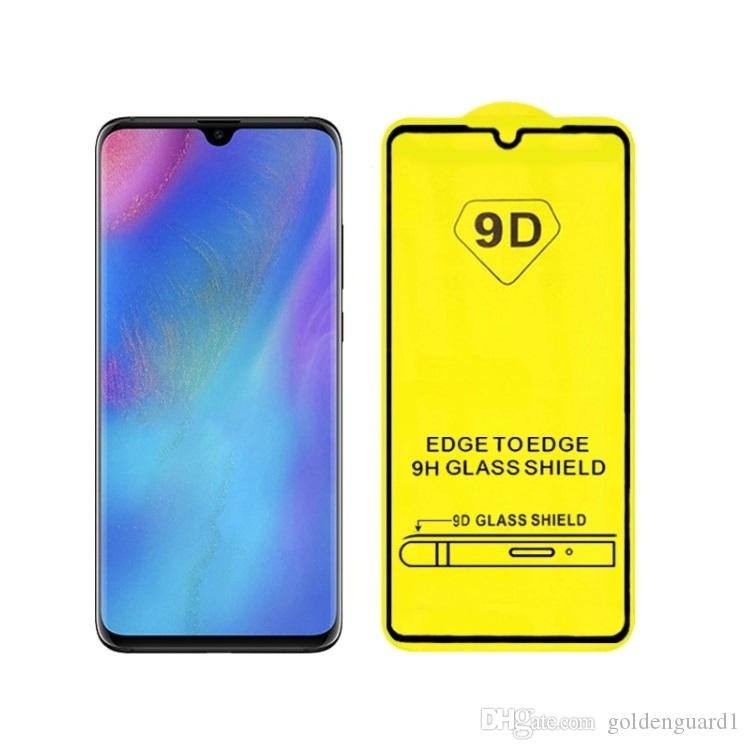 For Huawei P30 Lite Full Glue Full Cover Tempered Glass Screen Protector  Guard Film For Huawei Y5 2019 Y6 Y7 Pro Y9 Prime 2019 Nova 4E A7