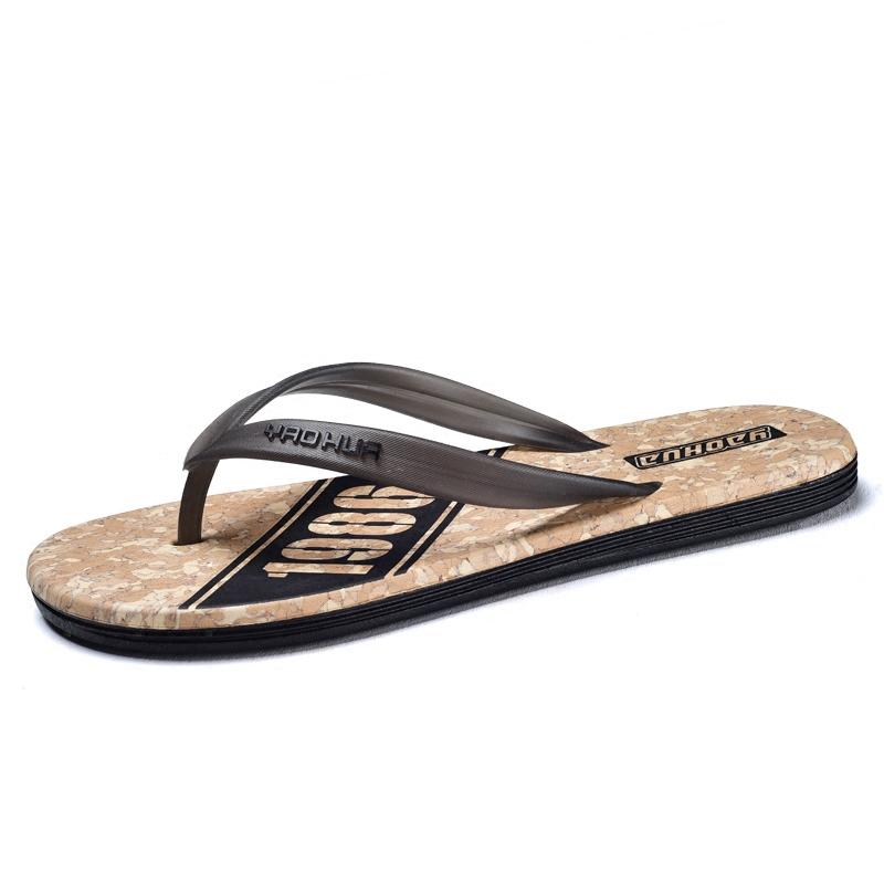 a4993baeb Flip Flop Male Slippers Summer Slip On Foot Rubber Korean Version Of The  Trend Personality Student Beach Shoes Shoe Shops Formal Shoes From  Beigekar, ...