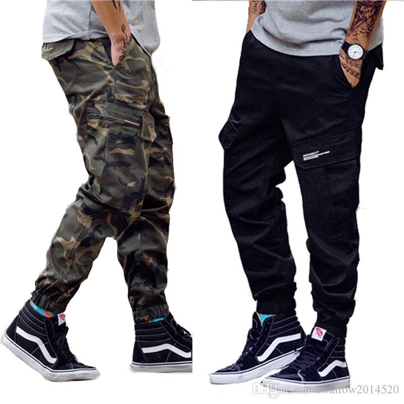6f50b97cff93e0 Pantalons pour hommes Camouflage Pantalon de jogging pour femme Fermeture à  glissière Salopette Faisceau Pied Pantalon Irrégulier Jogger Pantalon ...