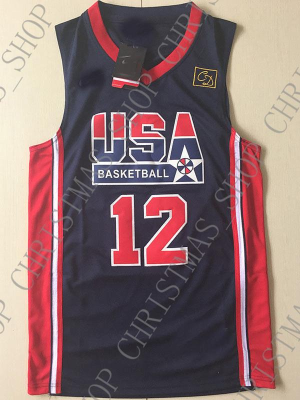 on sale 2cb74 7a503 Cheap wholesale John Stockton Jersey 1992 Olympic Dream Team Sewn  Basketball Jersey Customize any name number MEN WOMEN YOUTH