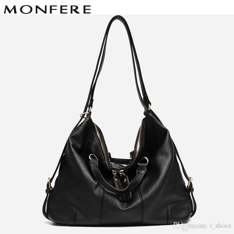 db3629fb346e MONFERE Women Bag Casual Soft Vegan Leather Top-handle Hobo Bags Girl Purse  Designer Tote Crossbody Bag Knapsack Multi Hand Bags #126028