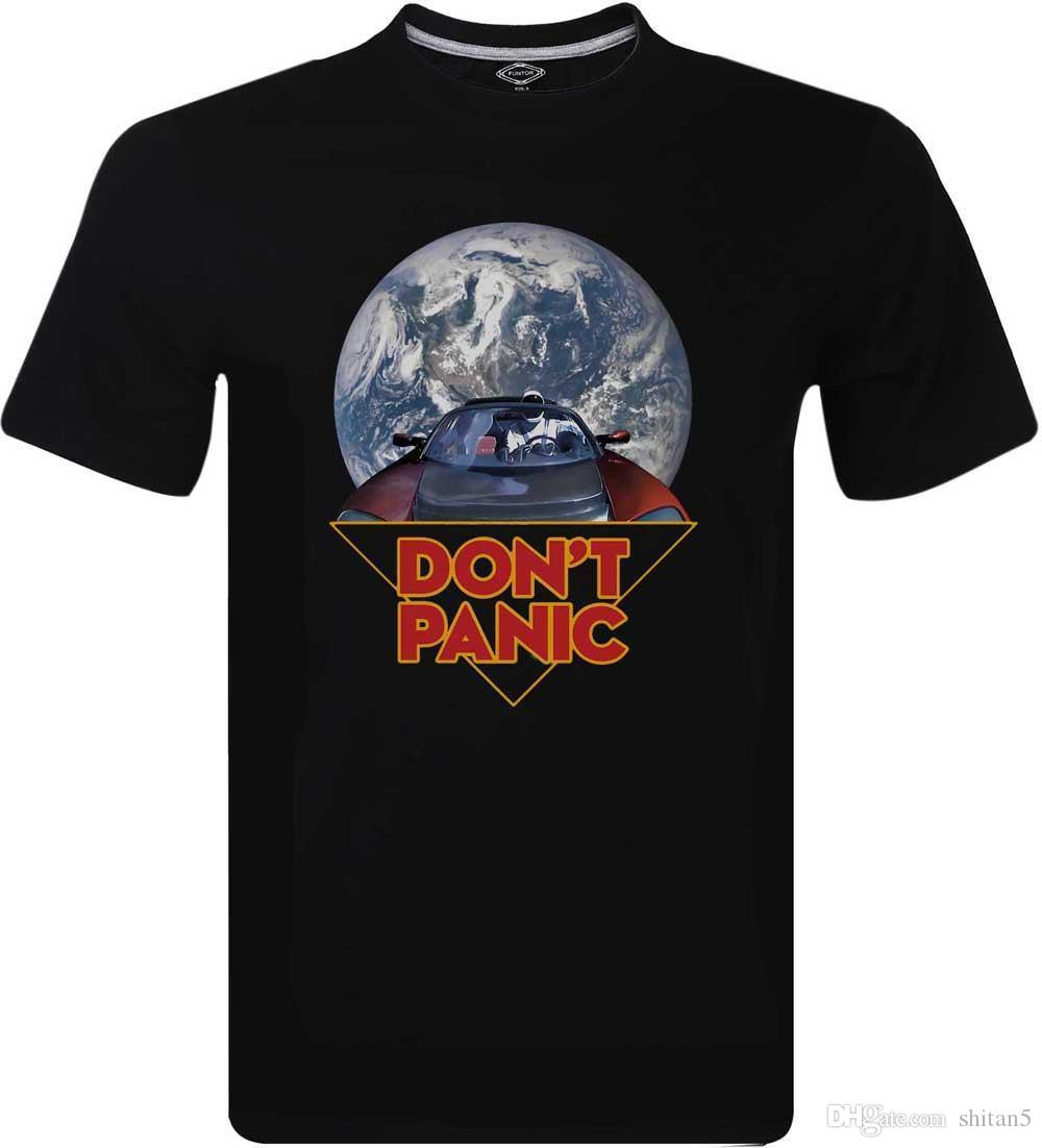 0f776fb7b Spacex Starman Don't Panic Earth Day March For Science Inspired Men's T- Shirt