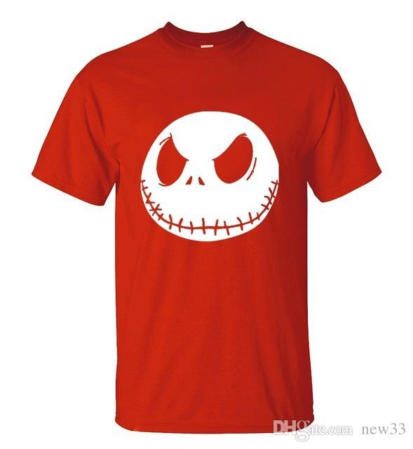 Compre 2019 Hombres S Ropa De Diseñador Camiseta Pesadilla Antes De Navidad  De Dibujos Animados Jack Skellington Camiseta Grimace Verano Nuevo Hip Hop  ... 51bae8e58216a