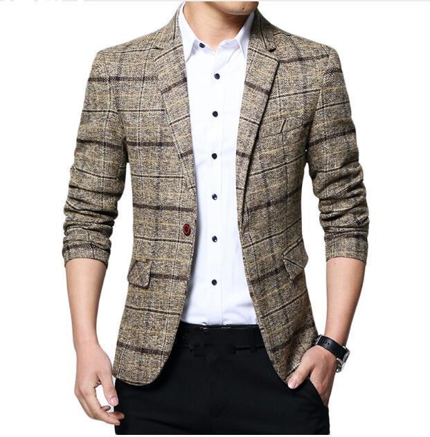 37c7ccb35db92 Satın Al 2018 Yeni Varış Marka Giyim Ceket Bahar Takım Elbise Ceket  Erkekler Blazer Moda Ince Erkek Takım Elbise Rahat Blazers Erkekler Boyutu  M 5XL, ...