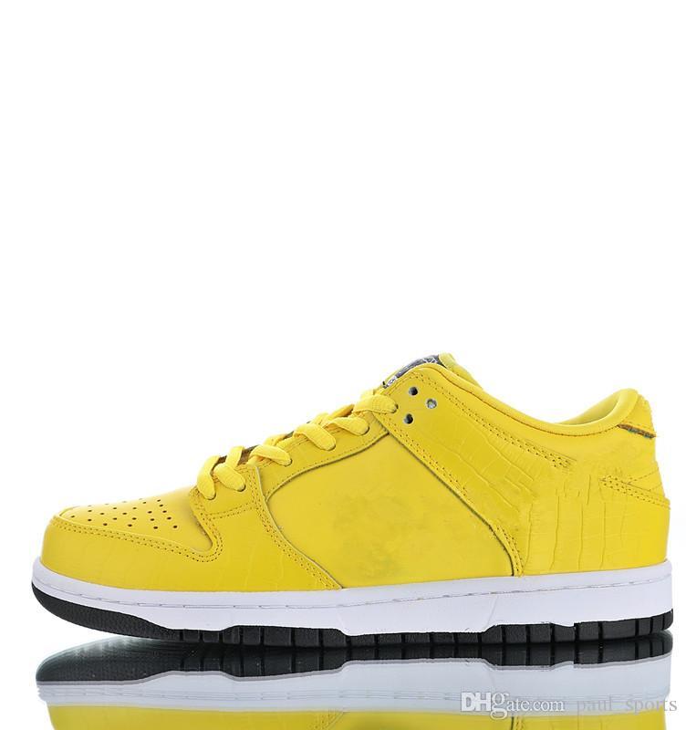 acheter en ligne a30d0 e3654 Vente chaude Diamant Supply Co. X SB Dunk Bas Pro Chaussures De Course pour  Top qualité Hommes Femmes formateurs À L'extérieur Jogging Baskets Taille  ...