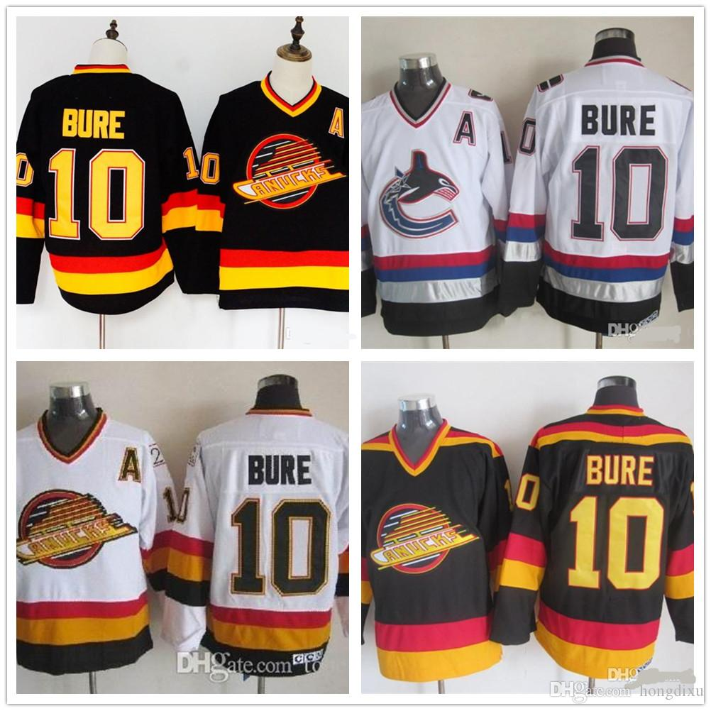 Wholesale Men Vancouver Canucks Ice Hockey Jerseys Cheap 10 Pavel Bure  Vintage Authentic Stitched Jerseys Canada 2019 From Hongdixu 1e9f2295e