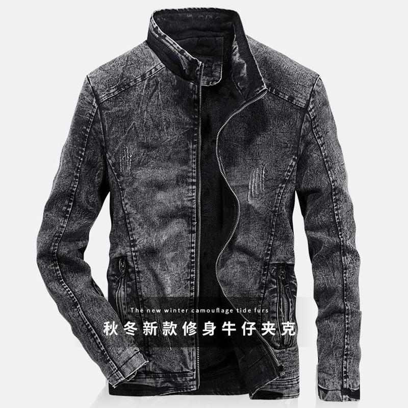 c19843e3953 Vintage Mens Denim Jacket And Coats 4XL Jeans Overcoats Spring ...