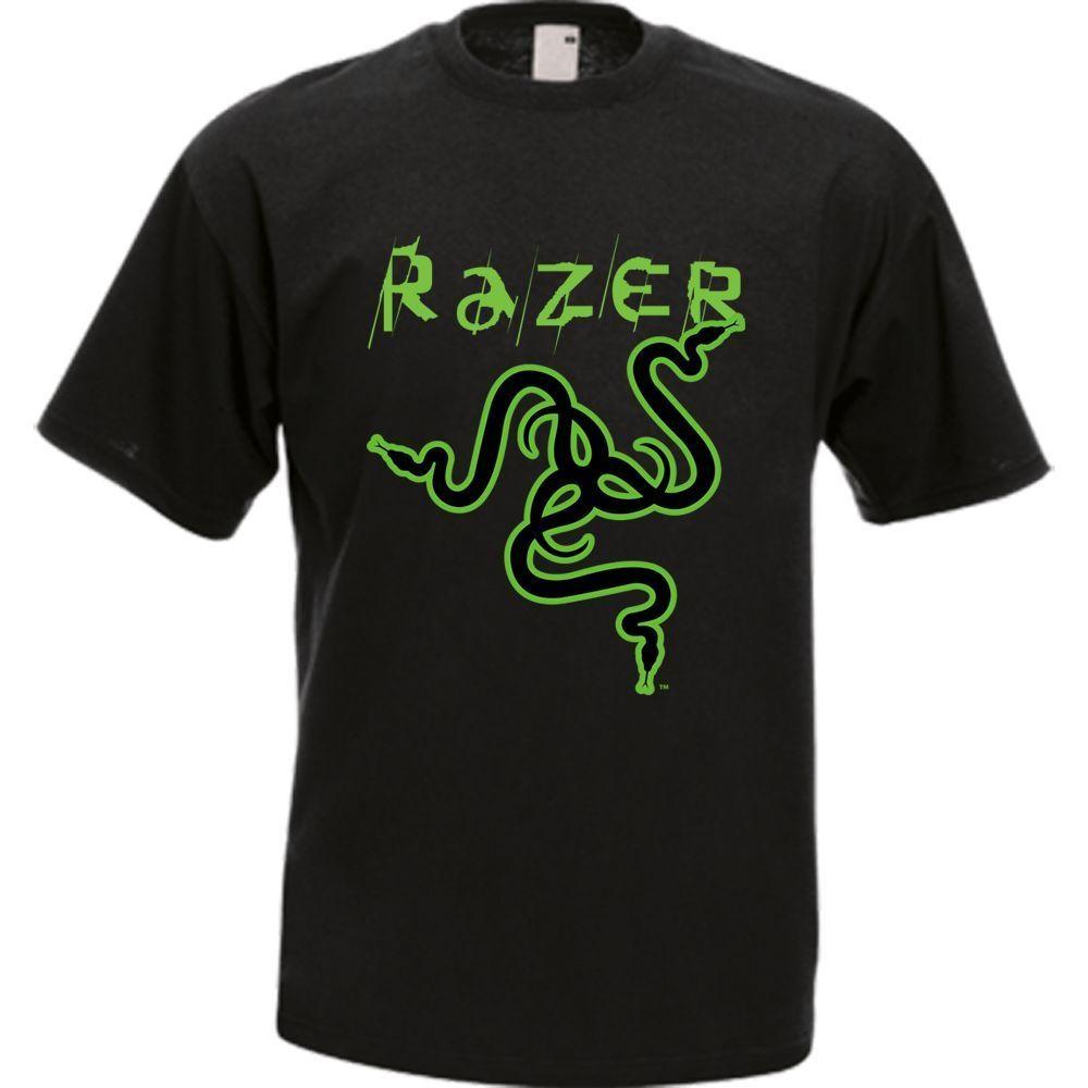 Razer Snake Logo Razer Game Gear Men's T-shirt Tee Many Colors wholesale  High Quality Custom Printed, Tops Hipster Short Sleeve