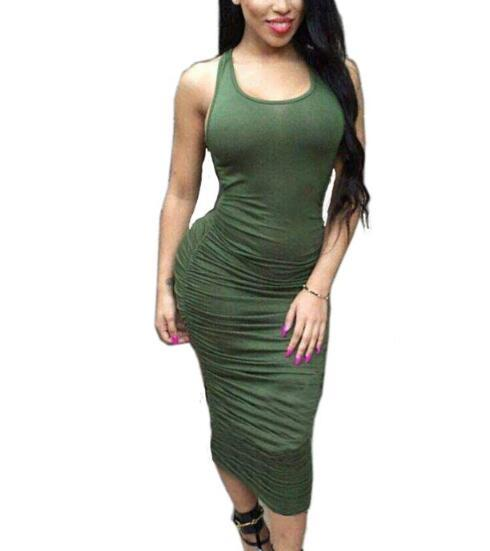 -women Summer Sleeveless White Black Midi Party Dresses Fashion Sexy Club  Bandage Bodycon Dress Plus Size Women Clothing Online with  24.53 Piece on  ... a2bd13a61f00