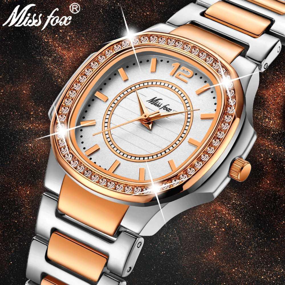 75dbfafb91 MISSFOX Rose Gold Watch Women Quartz Watches Ladies Top Brand Luxury  Stainless Steel Female Wrist Watch Girl Golden Clock Hours Online Watch Buy  Online Buy ...