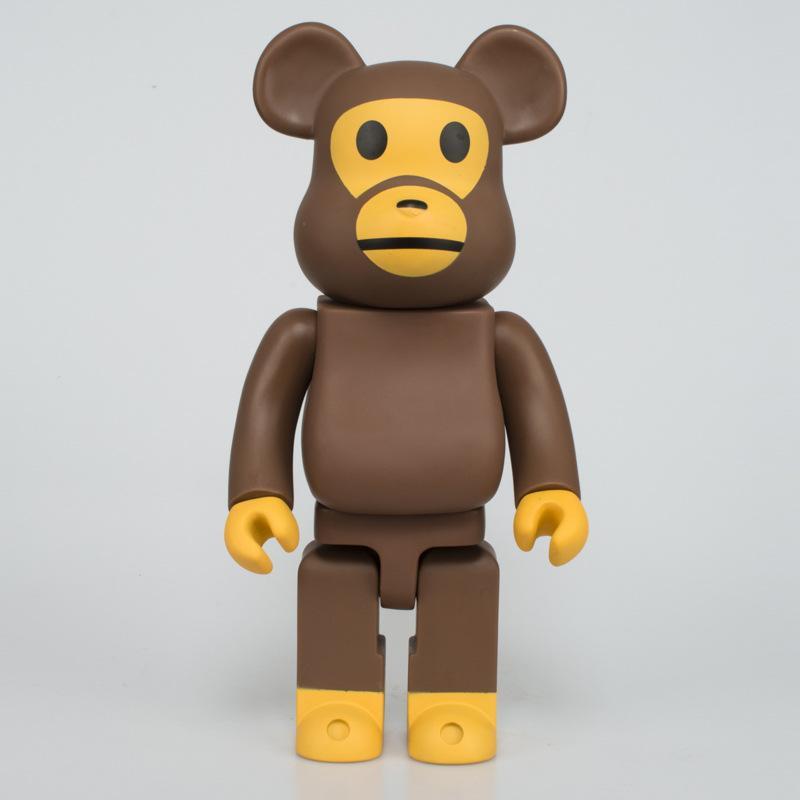 Vinyl Doll Anime figure Violent bear Cute building block bear Skull head  orangutan Hand model figurine doll baby children toy