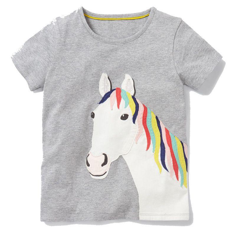 2bf1790a3 Compre Tops De Verano Para Niñas Camisetas Para Niños Ropa De Bebé 2019  Unicornio Camiseta Fille Chica Camiseta 100% Algodón Niños Ropa 2 7Years A  $23.03 ...