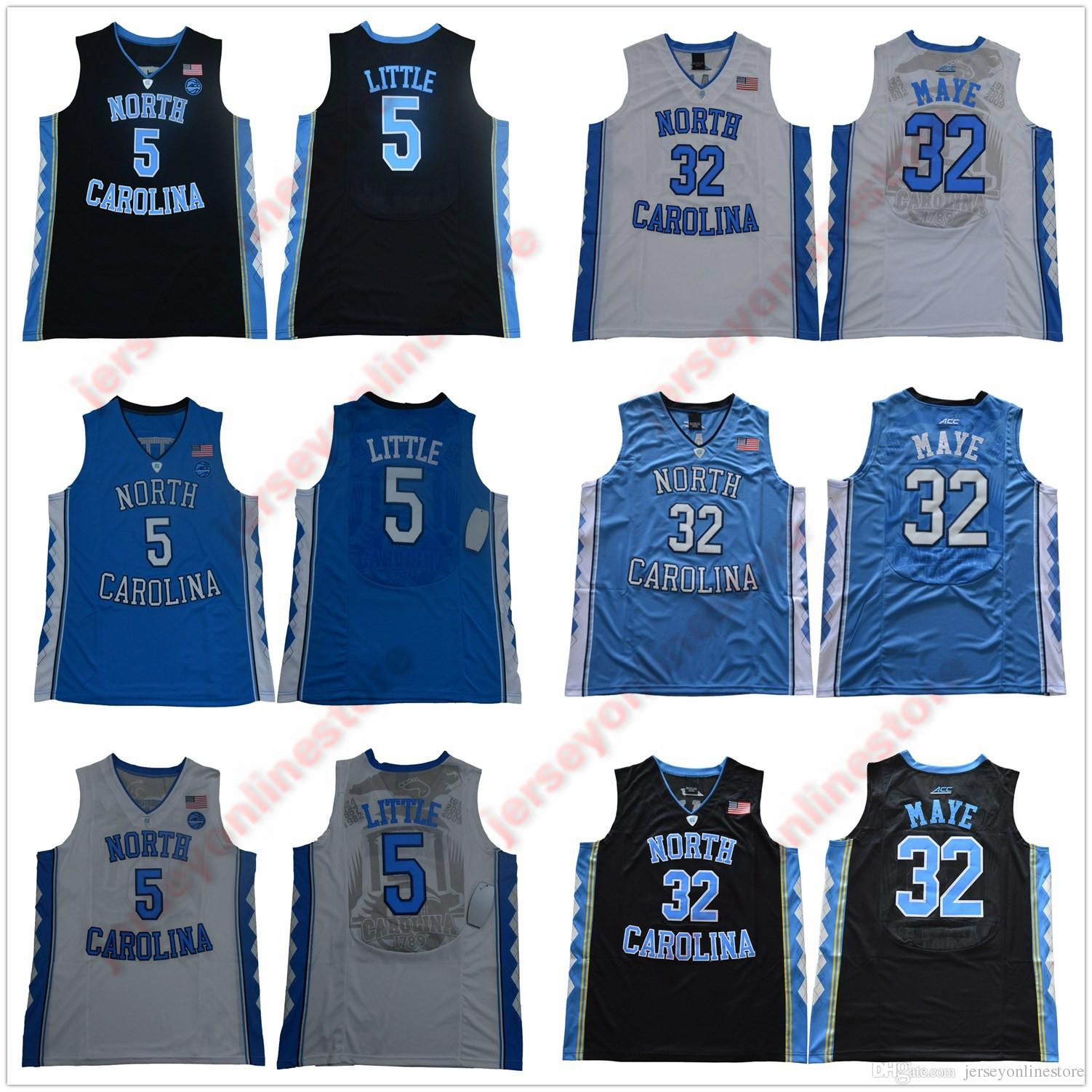 new product 74bcd 2b577 Men North Carolina Tar Heels 5 Nassir Little Jersey 23 15 Carter 32 Luke  Maye 2019 UNC Vince College Basketball Jerseys Stitched