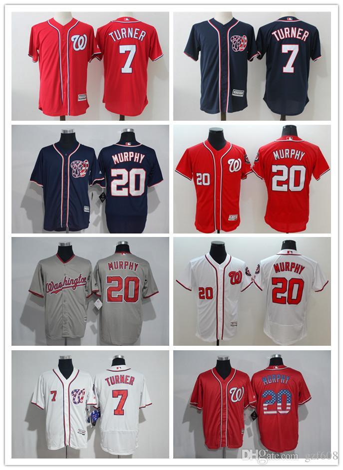 53329c853 2019 Custom Men S Women Youth Washington Nationals Jersey  7 Trea Turner 20  Daniel Murphy Home Red Grey White Baseball Jerseys From Gzf608