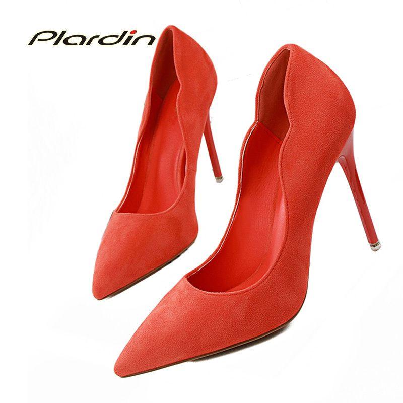 Compre Zapatos De Vestir De Diseñador Plardin Pumps Bombas Para Bodas De  Mujer Volantes De Gamuza Tacón Fino Para Mujeres 2019 Damas Puntiagudas  Tacones ... d562aa5782ba