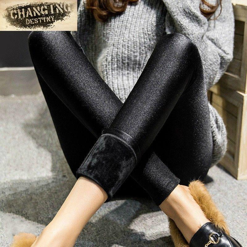 63577c6f057 Autumn Winter Women s Leggings Outside Wear Leggings Girl s Thicker Plus  Cashmere Slim Was Thin Warm Pants X-3xl Size Leggings